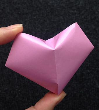 Bastelanleitung - Origamiherz 3D